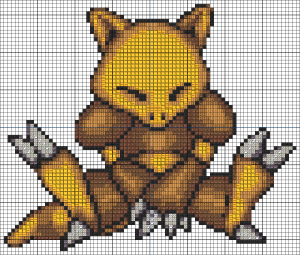 Abra cross stitch pattern