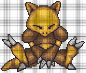 Abra cross stitch pattern