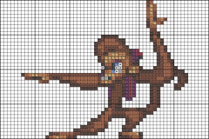Abu cross stitch pattern